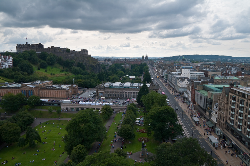 Princes Street Gardens and Castle